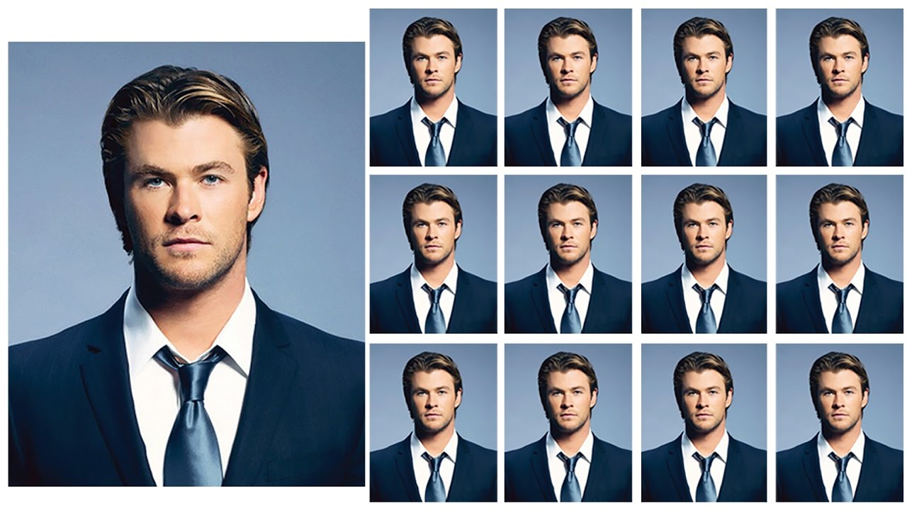 Create Passport Size Photo With Coat And Tie Psd Free